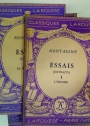 Essais (Extraits) Volumes 1 and 2. Complete Set.