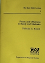 Poetry and Otherness in Hardy and Machado.