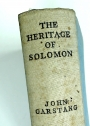 The Heritage of Solomon. An Historical Introduction to the Sociology of Ancient Palestine.