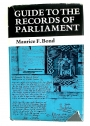 Guide to the Records of Parliament.