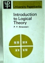 Introduction to Logical Theory.