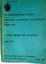 The Gloucestershire Scheme for Education in Personal Relationships and Family Life. A Third Report and Handbook. June 1971.