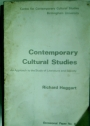 Contemporary Cultural Studies: An Approach to the Study of Literature and Society.