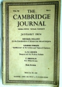 The Cambridge Journal. Volume 7, Number 4, January 1954.