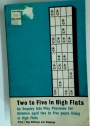 Two to Five in High Flats: An Enquiry into Play Provision for Children aged two to five Years Living in High Flats.
