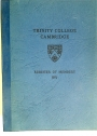 Trinity College Cambridge. Register of Members 1971.