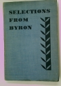 Selections From Byron.