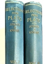 A Selection of Passages from Plato for English Readers from the Translation by B Jowett, MA. Two Volumes.