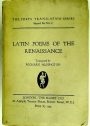 Latin Poems of the Renaissance. Translated by Richard Aldington.