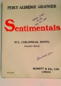 Sentimentals. Nr 1. Colonial Song. Piano Solo.