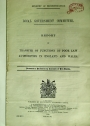Local Government Committee. Report on Transfer of Function of Poor Law Authorities in England and Wales.