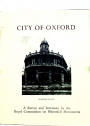 An Inventory of the Historical Monuments in the City of Oxford.