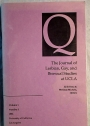 Q. The Journal of Lesbian, Gay and Bisexual Studies at UCLA. Volume 1, Number 1, 1993.