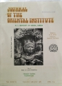 Journal of the Oriental Institute, University of Baroda. Volume 36, Nos 1 - 4.