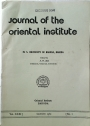 Journal of the Oriental Institute, University of Baroda. Volume 31, No 1.