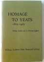 Homage to Yeats 1865 - 1965.