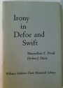 The Uses of Irony: Papers on Defoe and Swift read at a Clark Library Seminar, April 2, 1966.