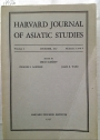Harvard Journal of Asiatic Studies, Volume 2, Number 3 & 4, December 1937.
