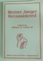 Werner Jaeger Reconsidered: Proceedings of the Second Oldfather Conference, Held on the Campus of the University of Illinois at Urbana-Champaign.