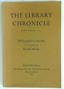 Bibliographical Studies in Honor of Rudolf Hirsch (= Library Chronicle, Volume 40, No 1, 1974)