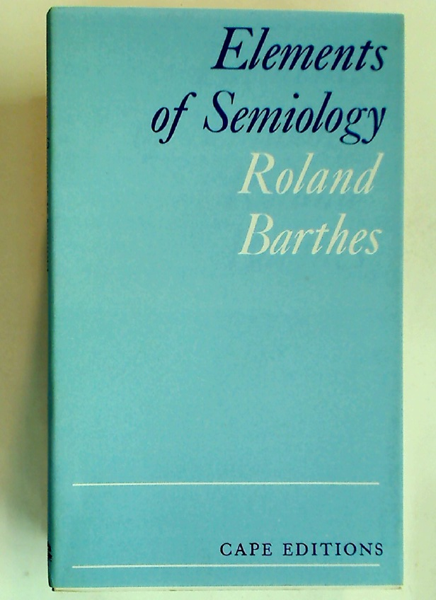 Elements of Semiology.