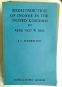 Redistribution of Income in the United Kingdom in 1959, 1957 & 1953.