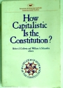 How Capitalistic is the Constitution?