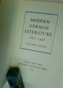 Modern German Literature 1870 - 1940.