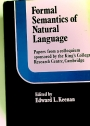 Formal Semantics of Natural Language, Papers from a Colloquium Spondered by the King's College Research Centre, Cambridge.
