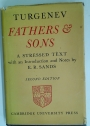 Fathers and Sons. A Stressed Text with Introduction and Notes by E R Sands.