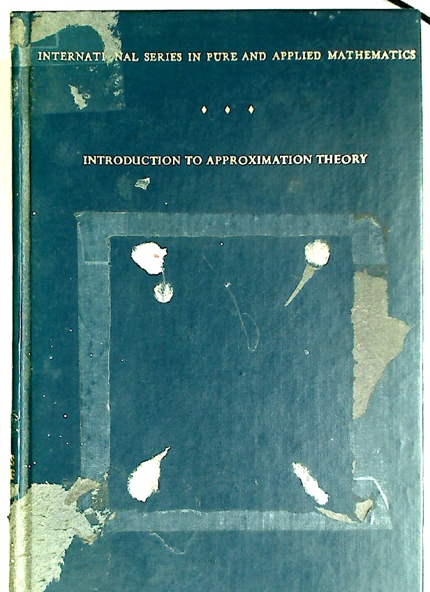 Introduction to Approximation Theory.