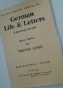 German Life and Letters. A Quarterly Review. Special Number for Trevor Jones. (New Series Volume 29, October 1975, No 1)