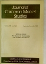 The European Community: Past, Present and Future. (Special Issue of Journal of Common Market Studies, Volume 21, 1982.